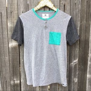On The Byas Color Block Pocket Tee M